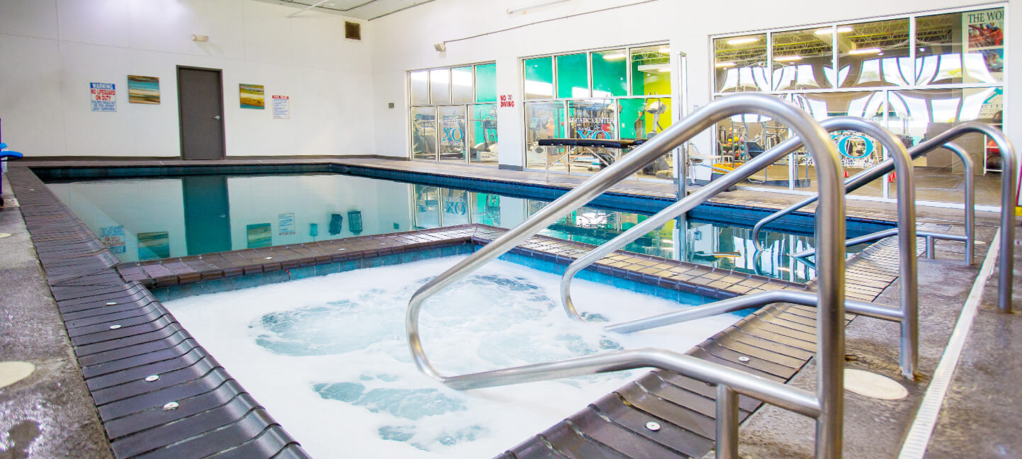Get in the heated area of the pool for extra relaxation!