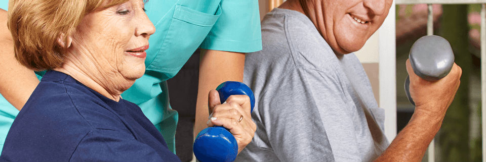 physical therapy using dumb bells